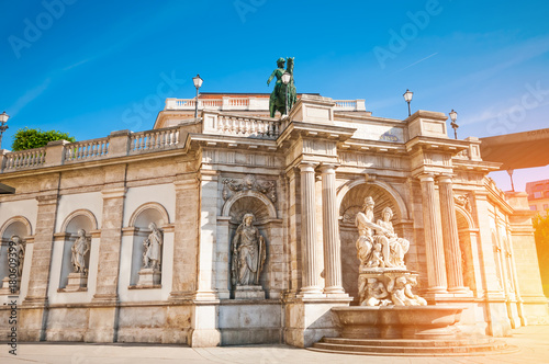Foto op Plexiglas Wenen Albertina Art Museum located in downtown in Vienna, Austria