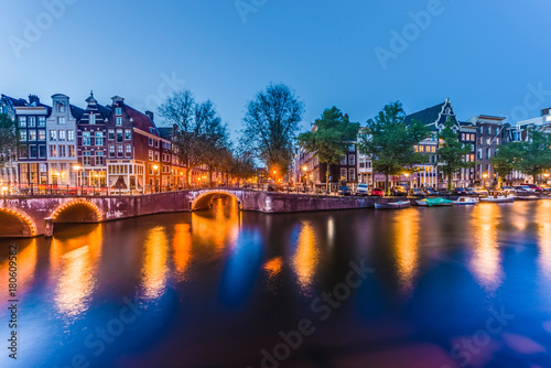 Fotobehang Amsterdam Keizersgracht canal in Amsterdam, Netherlands.