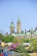 Parliament building in Ottawa in Spring