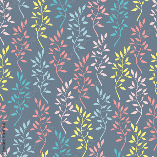 Seamless pattern with hand drawn branches. - 180614761