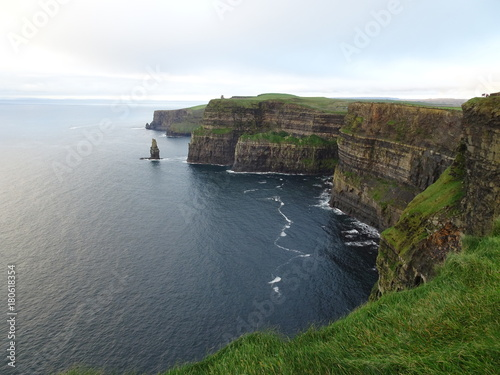 Foto op Canvas Wit The Cliffs of Moher in Ireland