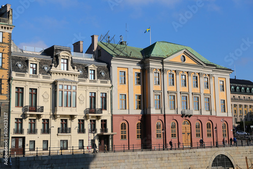 Staande foto Stockholm Buildings in Stockholm, Sweden