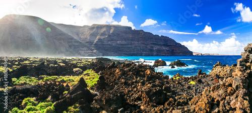 Fotobehang Freesurf Unique nature of volcanic Lanzarote . Canary island