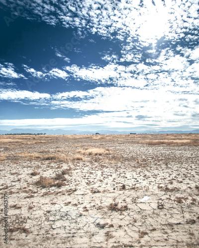 Foto op Canvas Wit Desert Plains