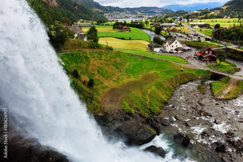 Steinsdalsfossen - gorgeous waterfall in Norway