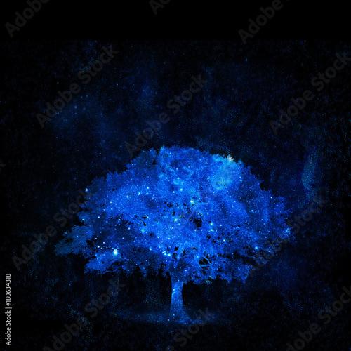 Fotobehang Heelal tree