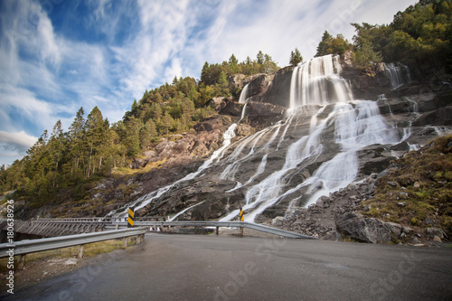 Furebergsfossen Waterfall - 180638926