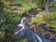 lumb falls waterfall close to the yorkshire tourist town of hebden bridge...