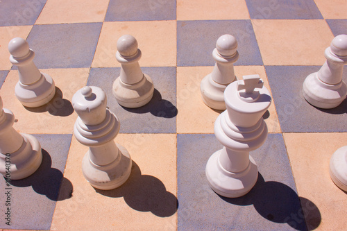 Plakat Chess. Black and white. Big size. Street.