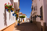 Street. Beautiful Spanish street. Costa del Sol, Andalusia, Spain. - 180648703