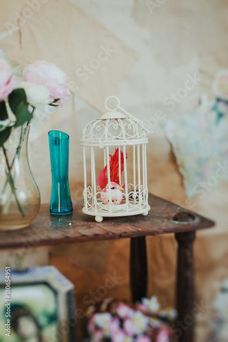 Poster Small white cage