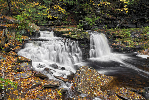 Cayuga Falls - Ricketts Glen, Pennsylvania - 180660135