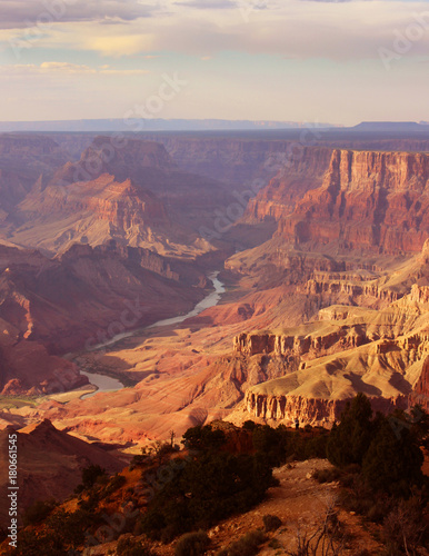 Foto op Plexiglas Oranje eclat The Grand Canyon - South Rim- Colorado River