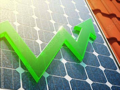 Leinwanddruck Bild Solar Power Up