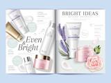 Fototapety Cosmetic magazine template