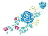 Embroidery Rose Ornament - 180678988