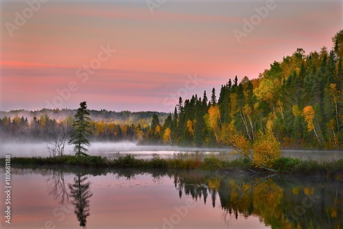 Fotobehang Zalm autumn-landscape-
