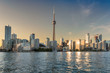 Toronto skyline at sunset, Canada.