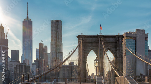 Foto op Aluminium New York Manhattan skyline with Brooklyn Bridge in New York City, USA.