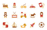 Kinderspielzeug  Iconset In Rot Wall Sticker
