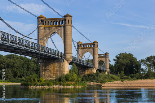 Plagát Bridge near Langeais castle in the Loire Valley - France