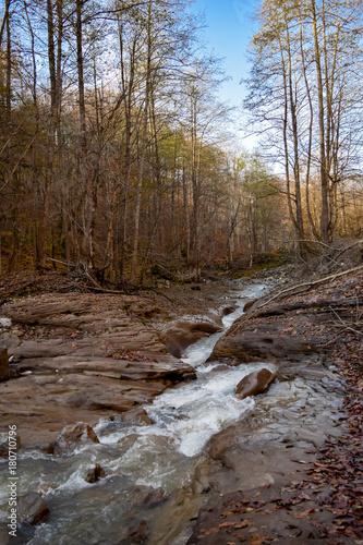 Fotobehang Bergrivier mountain river