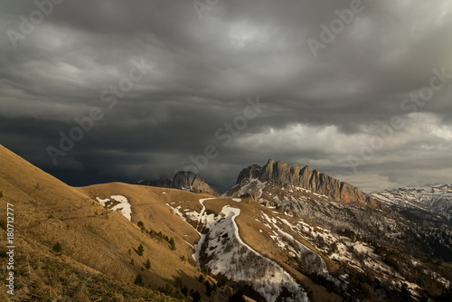 The mountain range of the Big Thach natural park. Adygea Poster