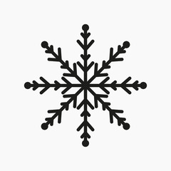 vector snowflake on isolated background