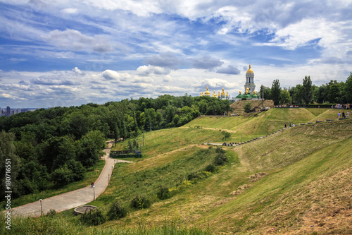 Poster Kiev View of Kiev Pechersk Lavra, the orthodox monastery included in the UNESCO world heritage list. Ukraine