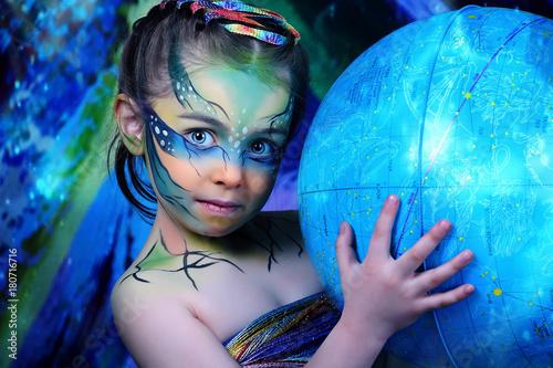 краски, ребенок, инопланетянин  - 180716716