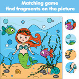 Matching Children Educational Game Kids Activity Find Objects Wall Sticker