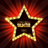 Star retro light banner.
