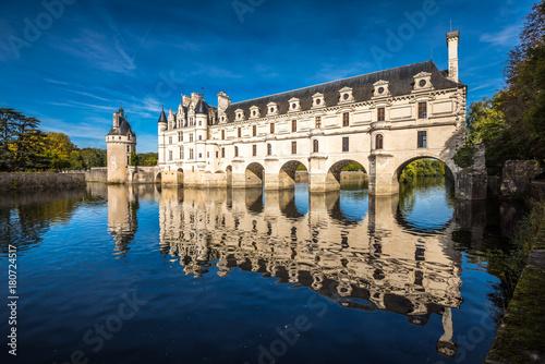 Plagát Chateau de Chenonceau on the Cher River, Loire Valley, France