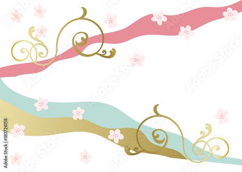 Keuken foto achterwand Vlinders in Grunge 和柄。 日本の春のイメージ。