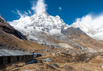 Himalayan Mountain Range and Annapurna Mountain