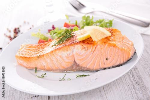 baked salmon - 180738925
