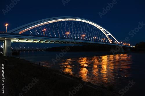 Sticker Apollo bridge by night