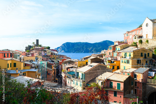 Foto op Canvas Liguria beautiful town of vernazza, italy