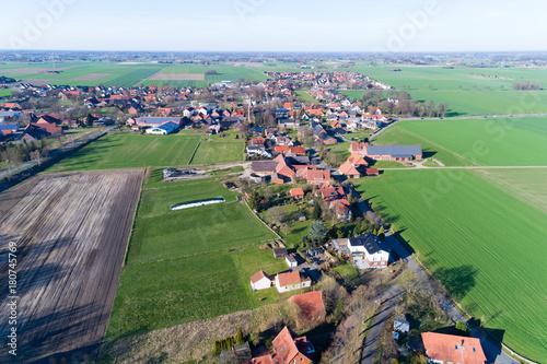 Obraz na płótnie Ländliche Gegend von oben