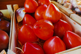 Ancient Provencal french tomatoes on the street market - 180750965