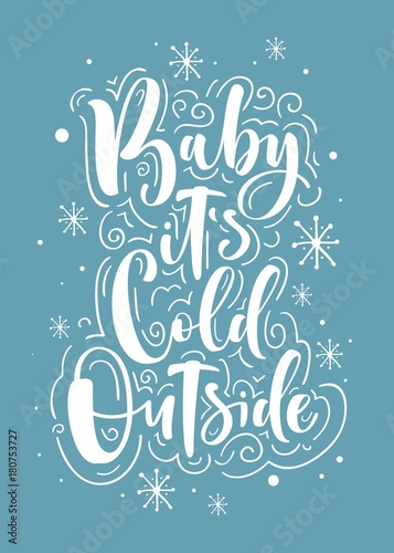 kochanie-na-dworze-jest-zimno-kartke-z-zyczeniami-lub-plakaty-z-kaligrafii-ilustracji-wektorowych