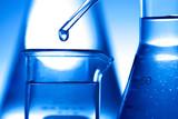 drop liquid  into a test tube - 180758584