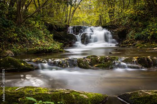 Waterfall in Dolzyca, Bieszczady, Poland - 180759575