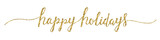 HAPPY HOLIDAYS banner in brush calligraphy - 180761313