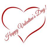 Happy Valentine's Day. Heart. Vector illustration
