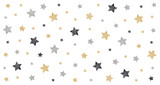 christmas stars scribble drawing card white isolated background