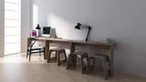 Minimalistischer Schreibtisch in Zimmer - 180770985