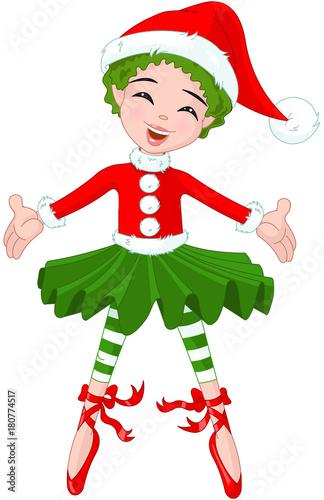 Poster Sprookjeswereld Little Christmas Ballerina