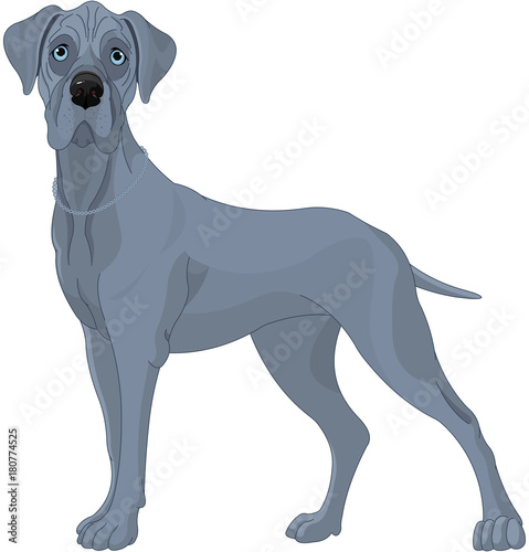 Tuinposter Sprookjeswereld Great Danes Dog