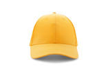 Baseball cap yellow templates, front views isolated on white background - 180777929